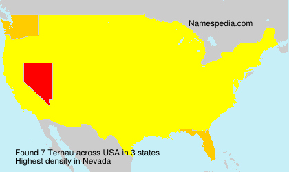 Surname Ternau in USA