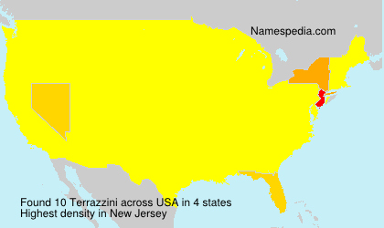 Surname Terrazzini in USA
