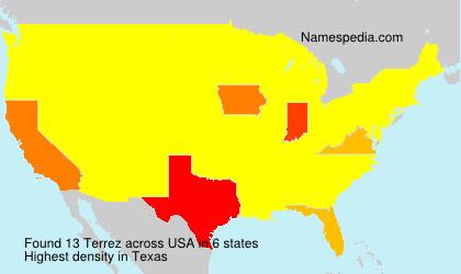 Familiennamen Terrez - USA