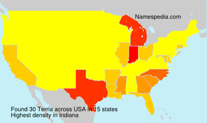 Surname Terria in USA