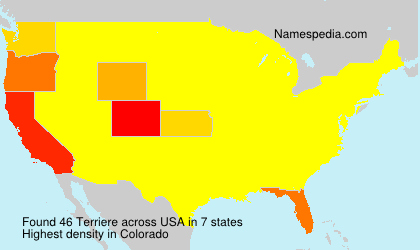 Surname Terriere in USA