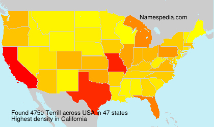 Familiennamen Terrill - USA