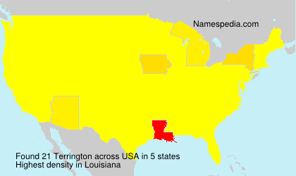Surname Terrington in USA