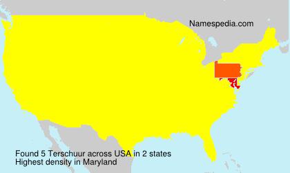 Surname Terschuur in USA