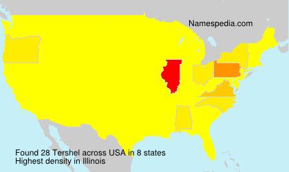 Surname Tershel in USA