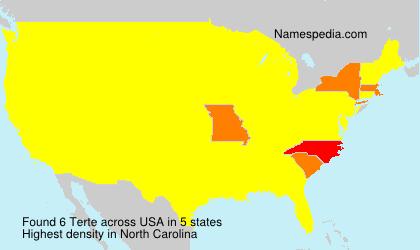 Surname Terte in USA