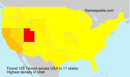 Surname Tervort in USA