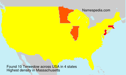 Surname Terwedow in USA