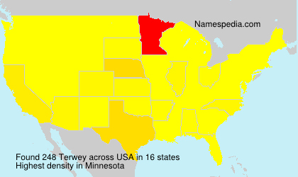 Surname Terwey in USA