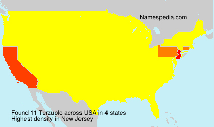 Surname Terzuolo in USA