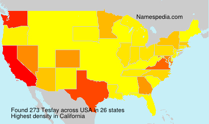 Surname Tesfay in USA