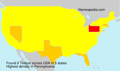 Surname Teslyar in USA