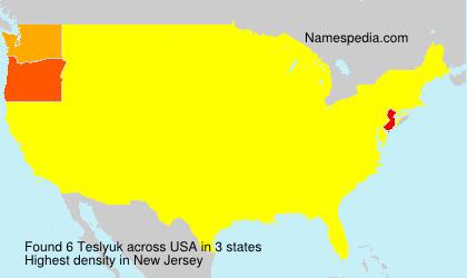 Familiennamen Teslyuk - USA