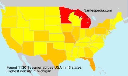 Surname Tessmer in USA