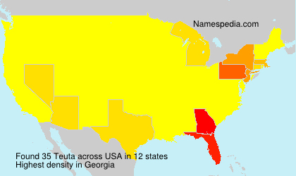 Familiennamen Teuta - USA