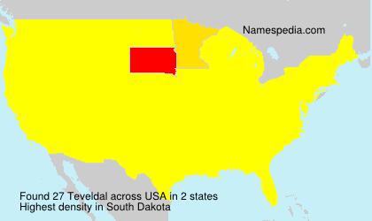 Surname Teveldal in USA