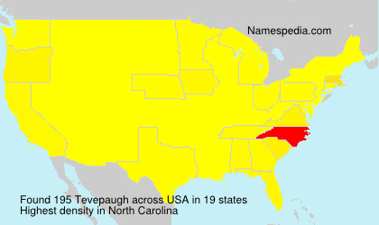 Surname Tevepaugh in USA