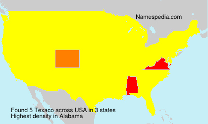 Surname Texaco in USA