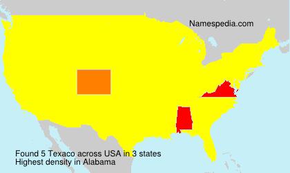 Surname Texaco in USA
