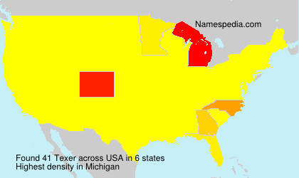 Surname Texer in USA
