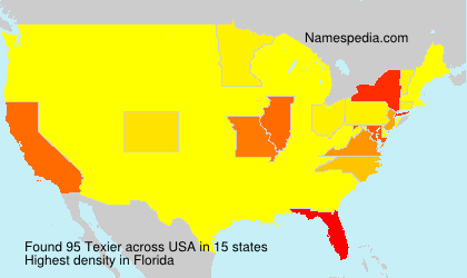 Surname Texier in USA