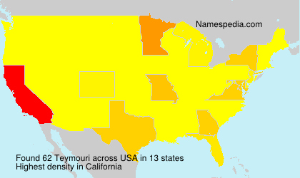 Surname Teymouri in USA