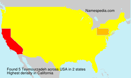 Surname Teymourzadeh in USA