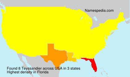 Familiennamen Teyssandier - USA