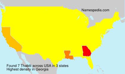 Surname Thabiti in USA