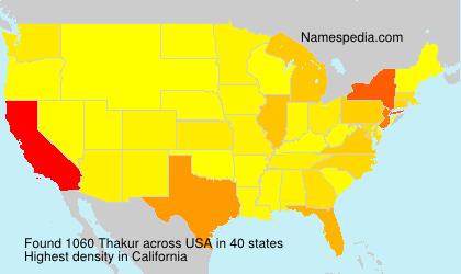 Familiennamen Thakur - USA