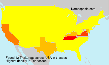 Surname Thakurdas in USA