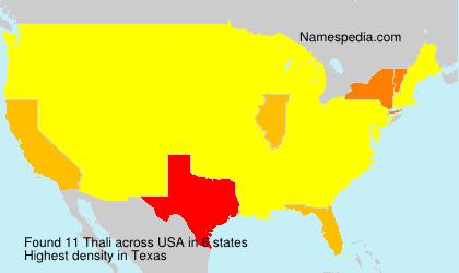 Surname Thali in USA