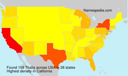 Familiennamen Thalia - USA