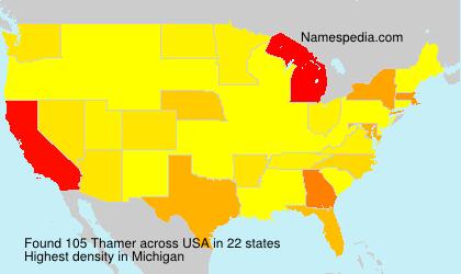 Familiennamen Thamer - USA
