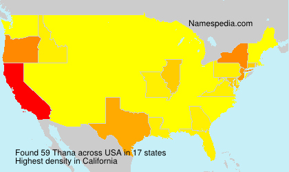 Surname Thana in USA