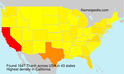 Surname Thanh in USA