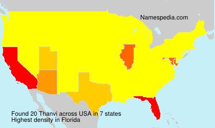 Familiennamen Thanvi - USA