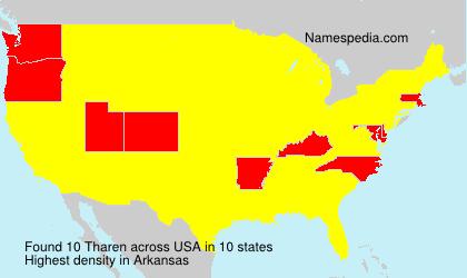 Familiennamen Tharen - USA