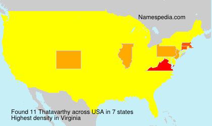 Surname Thatavarthy in USA