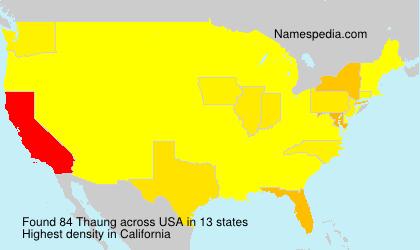 Surname Thaung in USA