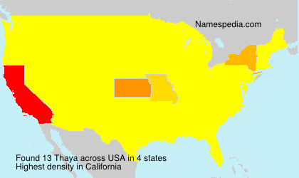 Surname Thaya in USA
