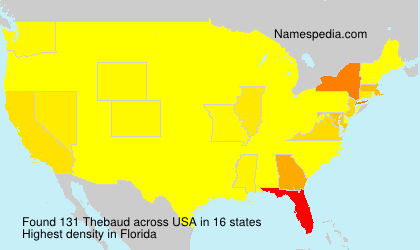 Surname Thebaud in USA