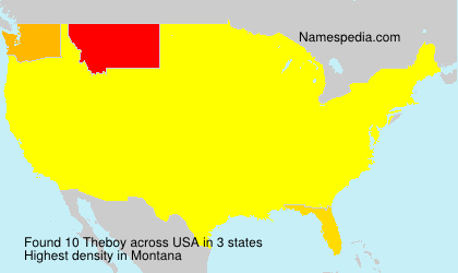 Surname Theboy in USA