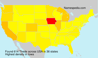 Surname Thede in USA