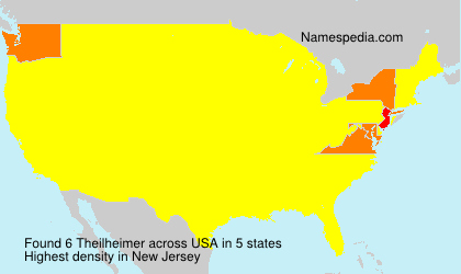 Surname Theilheimer in USA