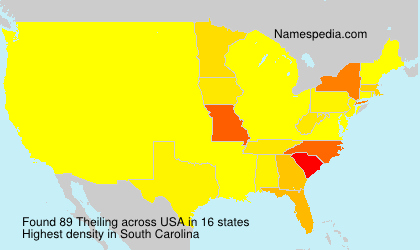 Surname Theiling in USA