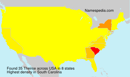 Surname Theirse in USA