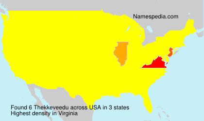Surname Thekkeveedu in USA