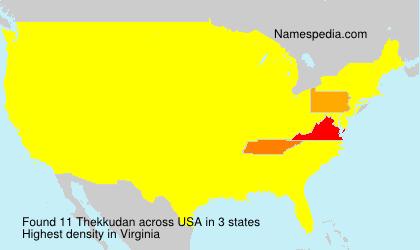 Surname Thekkudan in USA