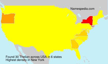 Familiennamen Thelian - USA